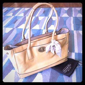 Pre-loved large tan Coach satchel